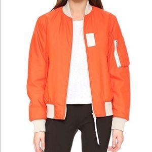 RAG -BONE Orange Bomber Georgie Warm Jacket